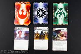 If Imperial Assault only required three card types, it would be much easier to manage. But alas, you need cards for the main characters' items and abilities, the campaign's side missions, the Empire's forces, the Empire player's special abilities, and conditions. Image from d12games.guru.