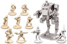 The AT-ST is the most impressive miniature in the box, but the other miniatures look good. Image from koboldco.blogspot.com.