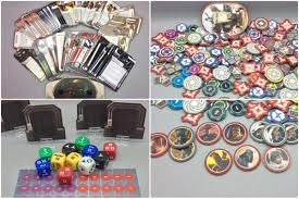 Behold Imperial Assault's cards, doors, dice, and tokens. Image from forum member Panic at community.fantasyflightgames.com.
