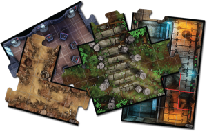 Imperial Assault uses tiles to represent the terrain the heroes and villains traverse during campaign missions and skirmishes. Image from www.fantasyflightgames.com.