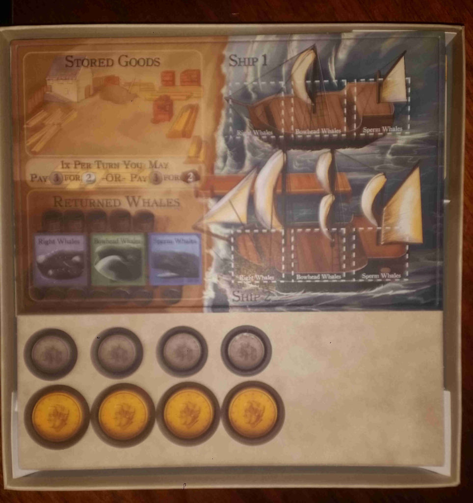 Rising Tide's first tile sheet with ship board and coins.