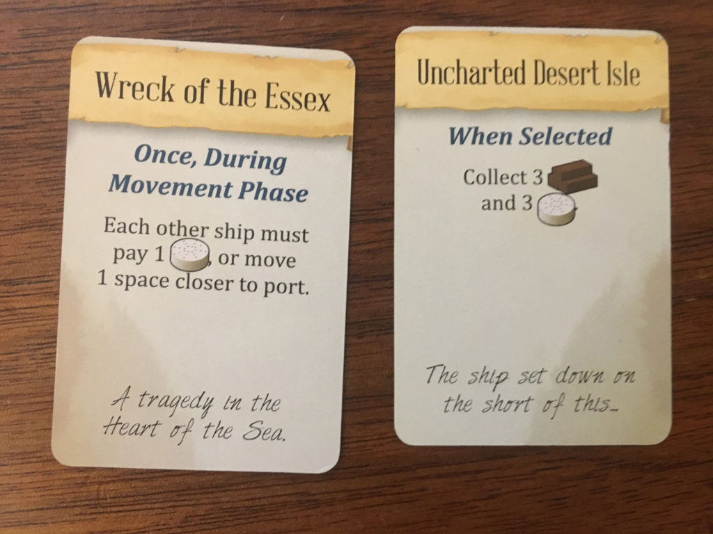 Examples of Omen (left) and Providence (right) cards.