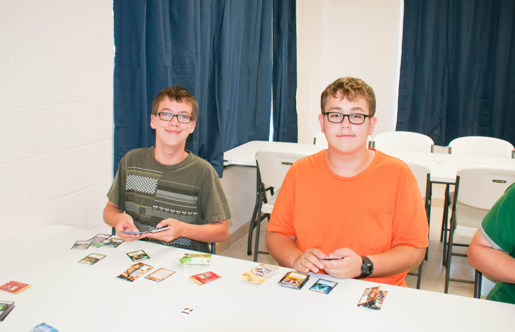Cardboard Carnage team member, Ben and his best friend, Nathan love playing Kaijudo. Dominic showed Ben how to play one night at Tabletop University, and Ben has been hooked ever since then.  He has been teaching his friends how to play at school.