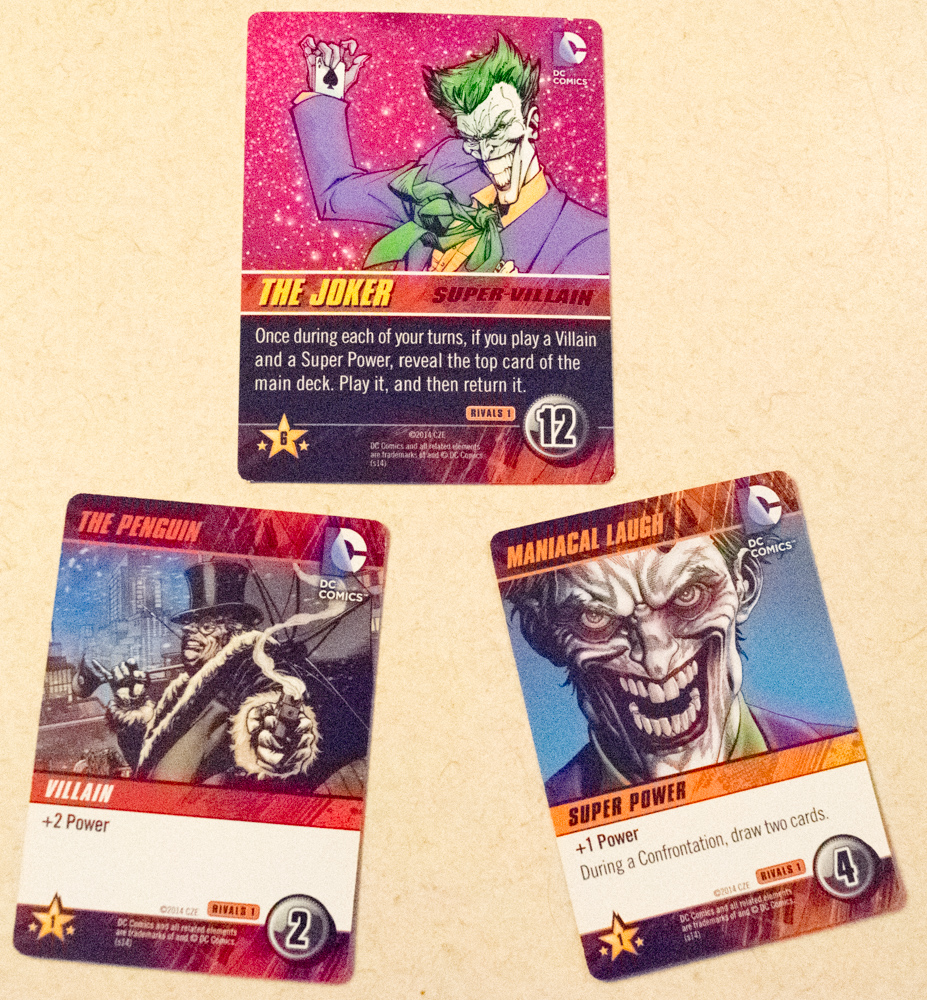 This Character cards benefits from playing Villains and Super Powers.